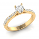 Classic round brilliant Pave ring
